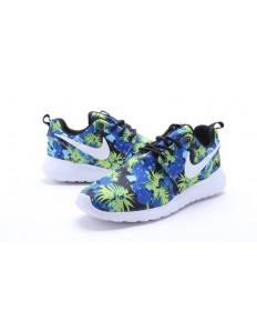 Nike Roshe Run Azul/Negro/Amarillo/formadores blancos