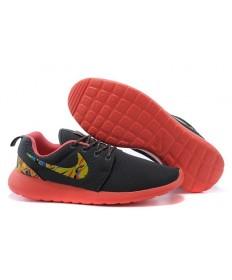 zapatos zapatillas Nike Roshe Run a hombretes negro/amarillo/naranja
