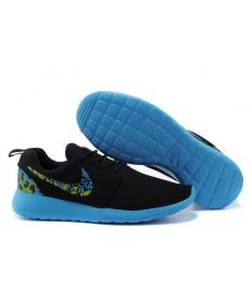 trainers de Nike Roshe Run las zapatillas de deporte de los a hombretes Negro/azul de los Dodgers