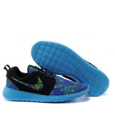 zapatos Nike Roshe Run a hombretes Negro/Azul real/azul cielo Luz