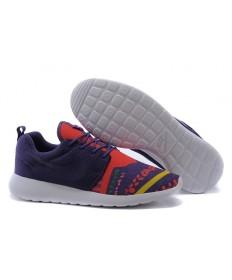 Nike Roshe Run zapatillas de deporte los a hombretes de la púrpura/naranja-rojo/amarillo