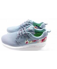 Nike Roshe Run zapatillas de deporte de la impresión gris/flor para hombre