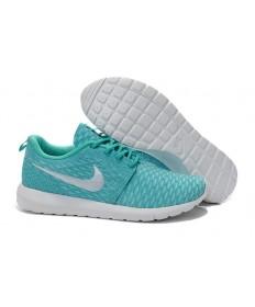 formadores Nike Flyknit Roshe Run turquesa/blanco para las mujeres
