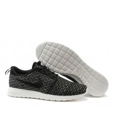 Nike Flyknit Roshe Run para hombre Negro/Dim zapatos grises formadores