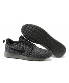 Nike Flyknit Roshe Run para hombre Todas negros grises Dim formadores/zapatillas de deporte