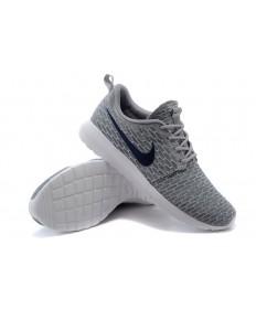 Nike para hombre Run Roshe Flyknit a hombretes Gris/Negro zapatos