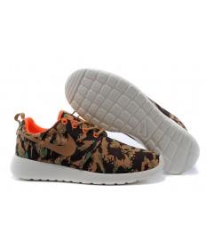 Nike Roshe Run aire oscuro de color caqui/formadores negras zapatillas de deporte