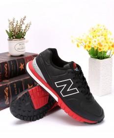 New Balance 574 RevLite negro formadores de color rojo zapatillas de deporte