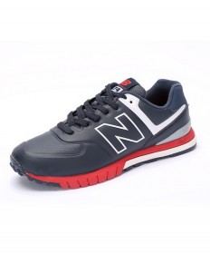 New Balance 574 RevLite formadores de color rojo oscuro cian zapatillas de deporte