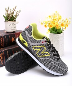 New Balance ML 574 GY blanco y negro/formadores de color amarillo