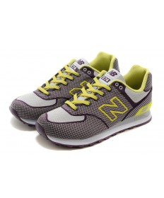 zapatos New Balance ML 574 GY púrpura y blanco/formadores de color amarillo