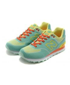 New Balance ML 574 GY verde amarillo-naranja formadores zapatillas de deporte