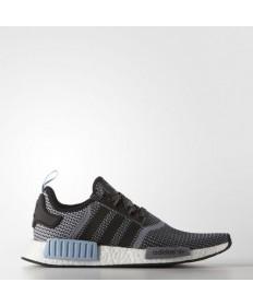 Adidas zapatos NMD_R1 original formadores de color Negro Core/Core Negro/azul claro