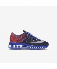 Nike Air Max 2016 Imprimir Obsidiana/luz carmesí/Corrojoor Azul/Reflect formadores zapatillas de deporte de plata