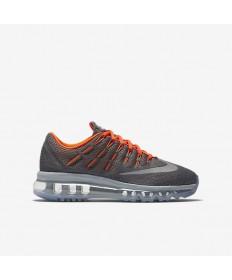 Nike Air Max 2016 Gris frío total naranja// Negro/Reflect zapatillas de deporte de plata