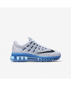 Nike Air Max 2016 Zapatos de la zapatillas blanca/azul de la foto/Pure Platinum/Negro
