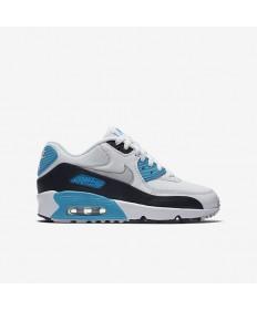 Nike Air Max 90 formadores de malla zapatos Vela/Negro/azul Lagoon/gris neutro