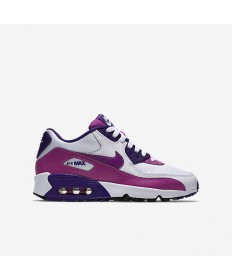 Nike Air Max 90 zapatillas de deporte de malla formadores Blanco/Corte Púrpura/Negro/Hyper Violeta