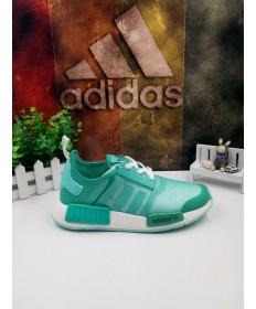 Adidas formadores NMD zapatillas de deporte verde blanco