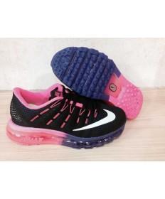 Nike Air Max 2016 zapatillas de deporte formadores Negro/rosa/blanco para las mujeres
