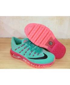 Nike Air Max 2016 zapatillas de deporte de la turquesa/Negro/Rojo para mujeres