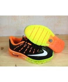 Nike Air Max 2016 zapatillas de deporte formadores Naranja/Negro/blanco/verde fluorescente por un hombre