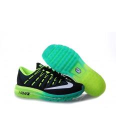 Nike Air Max 2016 zapatillas Negro/Cyan/blanco/verde fluorescente por un hombre