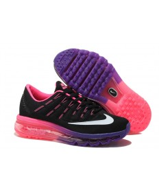 Nike Air Max 2016 Negro/blanco/púrpura/Pink mujer trainers