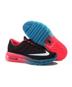 Nike Air Max 2016 Negro/Blanco/Naranja/formadores zapatos azules para hombre