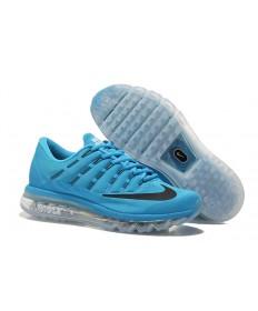 Nike Air Max 2016 de cielo profundo azul/negro para hombre de las zapatillas de deporte para