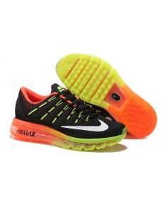 Nike Air Max 2016 zapatos fluorescentes/formadores Negro/Blanco/Naranja, amarillo