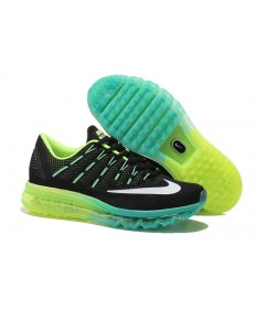 Nike Air Max 2016 negroe/fluorescente verde/blanco/formadores Cyan para hombre