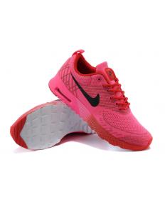 Nike Air Max Thea las zapatillas de deporte de color rosa caliente/Rojo/Negro para mujer