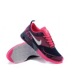 Nike Air Max Thea las zapatillas de deporte de medianoche azul/blanco/rosa para las mujeres