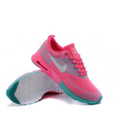 trainers de Nike Air Max Thea rosa caliente/verde/gris para mujeres
