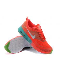 Nike Air Max zapatos Thea formadores naranja-rojo/gris/verde para mujer