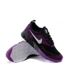 Nike Air Max Thea Negro/zapatos púrpura/blancas mujer