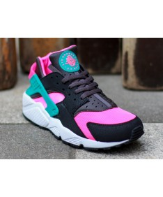 negro Nike Air Huarache rosa de la luz azul cielo zapatillas de deporte