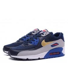 Nike Air Max 90 zapatos cian-real esenciales azul-gris-dios formadores
