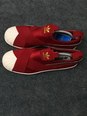 Adidas Superstar SLIP ON zapatillas de deporte rojo/color beige