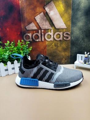 zapatos Adidas formadores NMD Los Angeles azul gris negro
