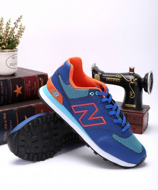 New Balance ML 574 GY zapatillas de deporte azul/azul marino/naranja