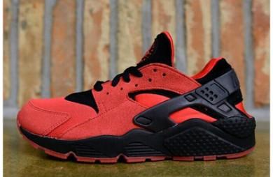 Nike Air Huarache de luz zapatos rojos y negros para hombre