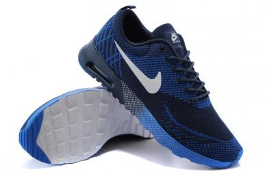 Nike Air Max zapatos Thea formadores de medianoche azul Azul real// blanco para hombre