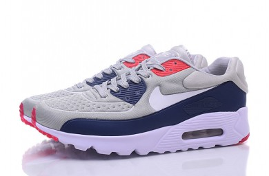 Nike Air Max 90 zapatos de color gris-cian-rojo