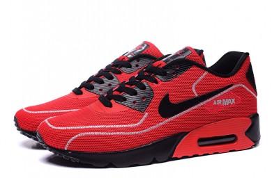 Nike Air Max 90 zapatillas de deporte de las luciérnagas rojo-negro