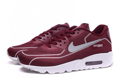 Nike Air Max 90 zapatos de luciérnagas formadores de color rojo granate