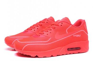 Nike Air Max 90 zapatillas de deporte de las luciérnagas formadores de color rojo