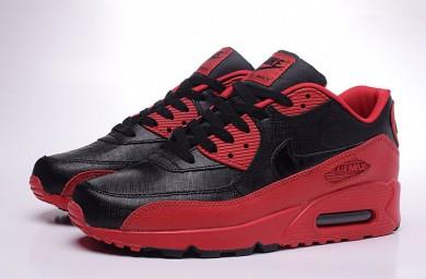Nike Air Max 90 zapatillas de deporte negras-roja