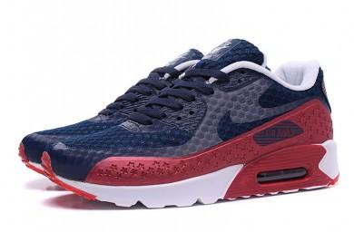 NIKE AIR MAX 90 HYP PRM Día de la Independencia zapatillas de deporte de color azul-rojo oscuro